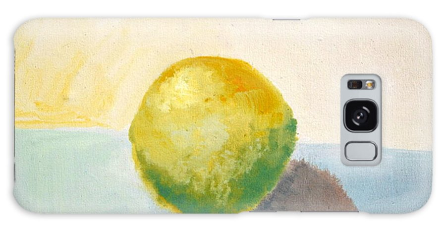 Lemon Galaxy S8 Case featuring the painting Yellow Lemon Still Life by Michelle Calkins