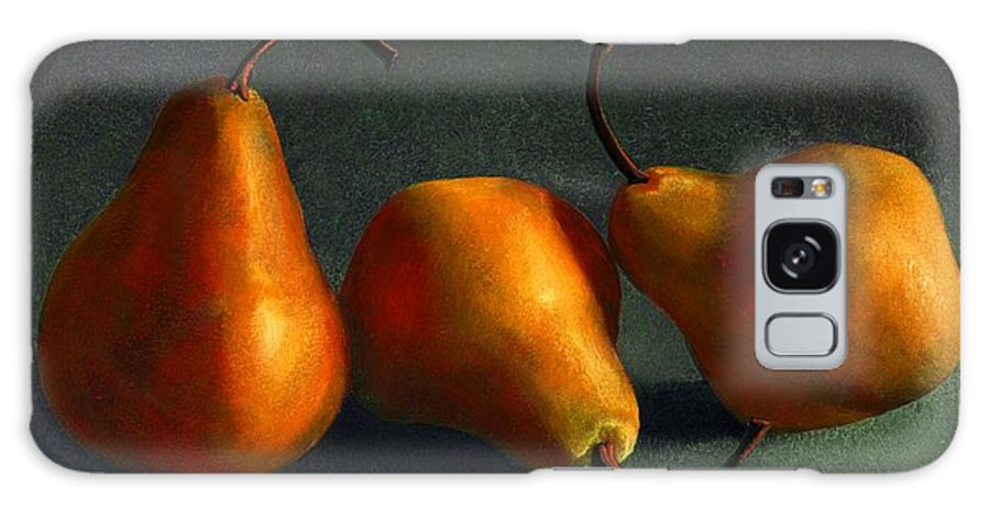 Still Life Galaxy S8 Case featuring the painting Yellow Pears by Frank Wilson