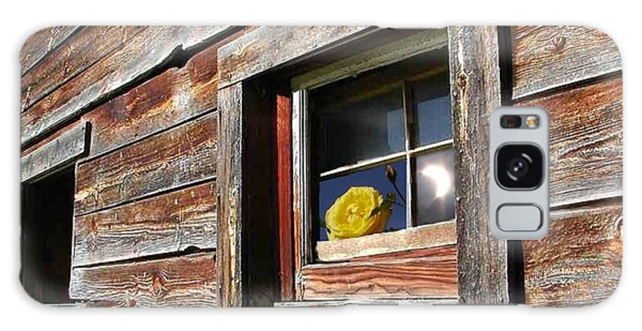 Barn Galaxy S8 Case featuring the digital art Yellow Rose Eclipse by Tim Allen