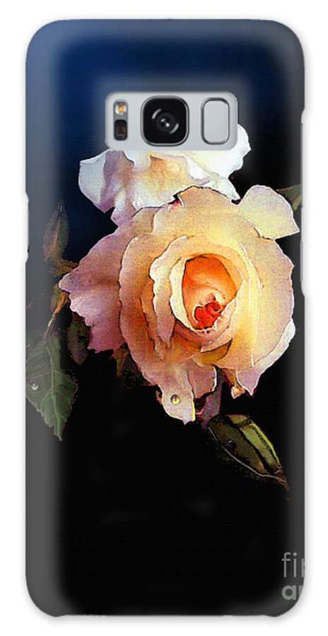 Rose Galaxy S8 Case featuring the painting Yellow Rose by Robert Foster
