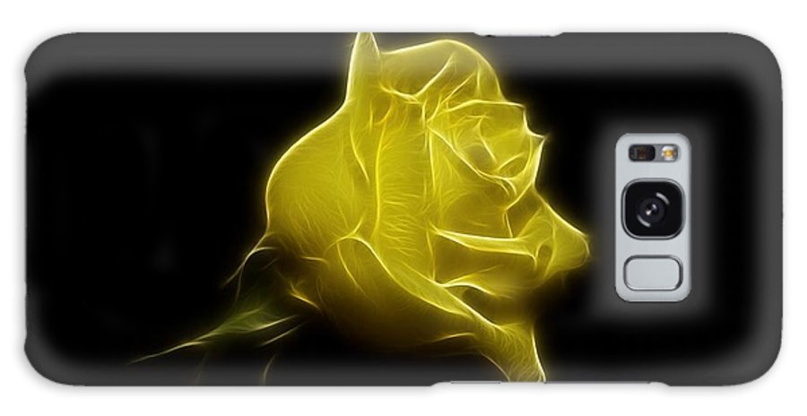 Rose Galaxy S8 Case featuring the photograph Yellow Rose by Sandy Keeton