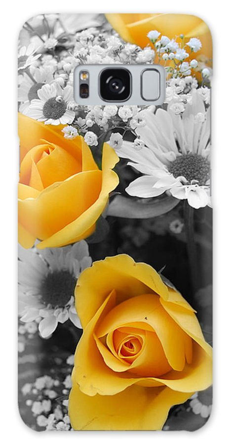 Rose Galaxy S8 Case featuring the photograph Yellow Roses by Amy Fose