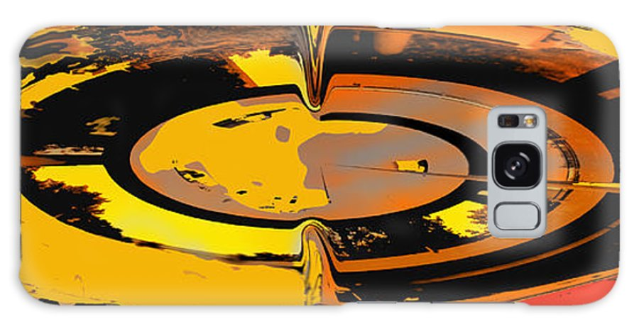 Abstract Galaxy S8 Case featuring the digital art Yellow Vortex by Ian MacDonald