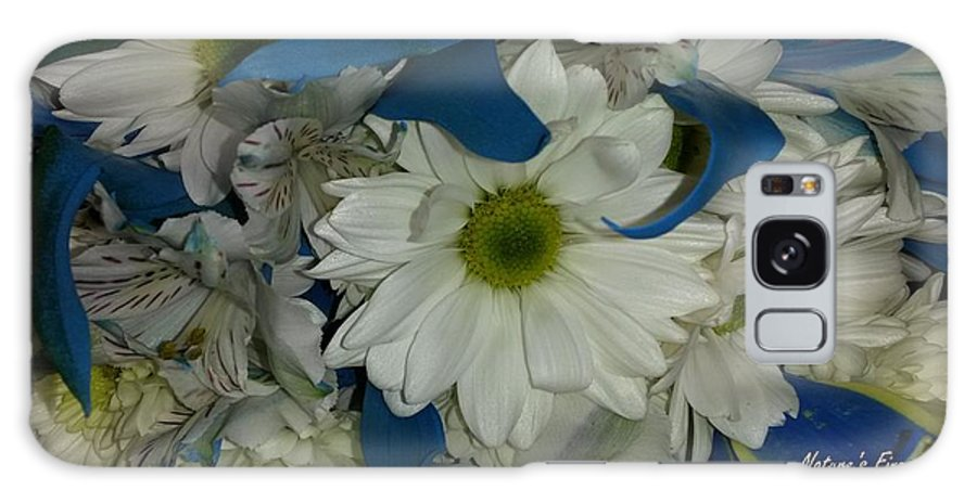 Flowers Galaxy S8 Case featuring the photograph Yellow, White And Blue by Maxine Billings