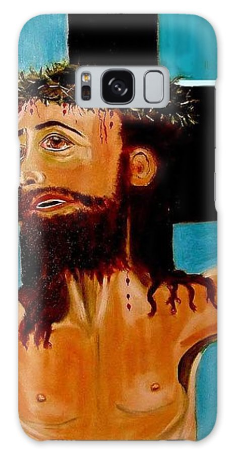 Jesus Galaxy S8 Case featuring the painting Yeshua by Rusty Gladdish