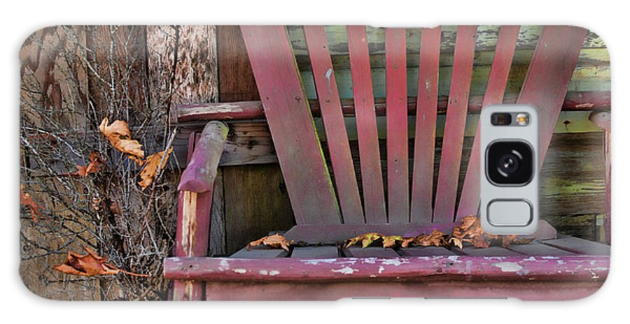 Adirondack Chair Galaxy S8 Case featuring the photograph Yesterday's Chair by Bonnie Bruno