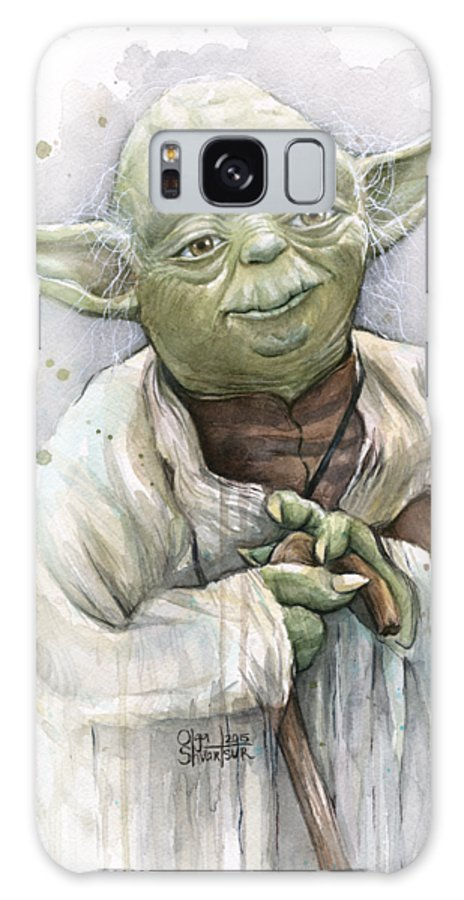 Yoda Galaxy S8 Case featuring the painting Yoda by Olga Shvartsur