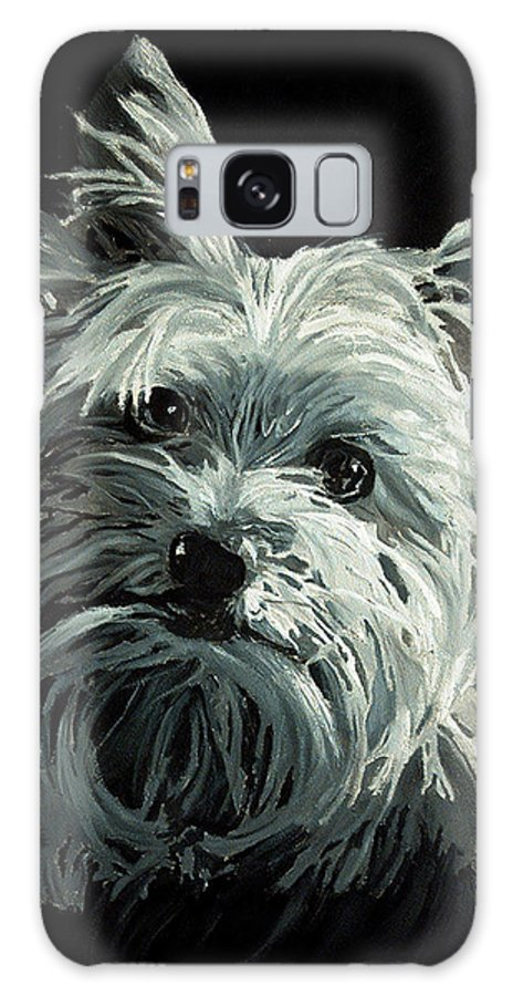 Animals Galaxy S8 Case featuring the painting Yorkie by Portraits By NC