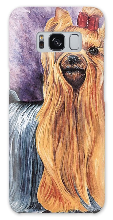 Yorkshire Terrier Galaxy Case featuring the painting Yorkshire Terrier by Kathleen Sepulveda