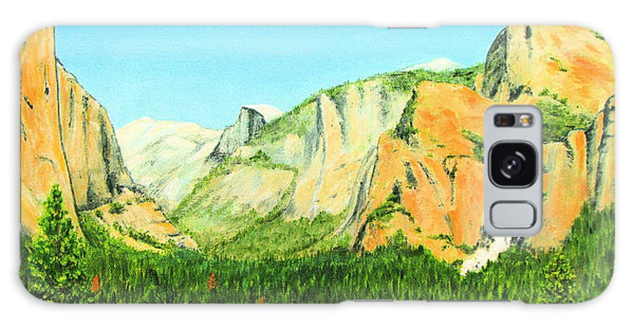 Yosemite National Park Galaxy Case featuring the painting Yosemite National Park by Jerome Stumphauzer