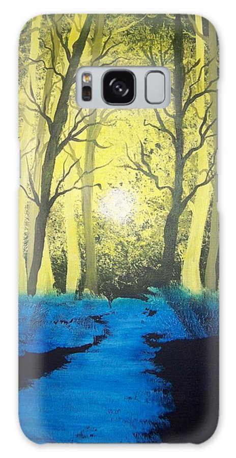 Forest Galaxy Case featuring the painting You Cant See The Forest For The Trees by Laurie Kidd