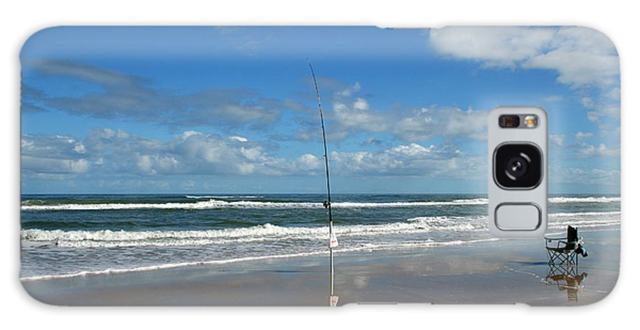 Fish Fishing Vacation Beach Surf Shore Rod Pole Chair Blue Sky Ocean Waves Wave Sun Sunny Bright Galaxy Case featuring the photograph You Could Have Been There by Andrei Shliakhau