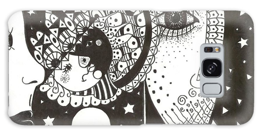 Ethereal Galaxy S8 Case featuring the drawing You Me The Stars And The Moon by Helena Tiainen