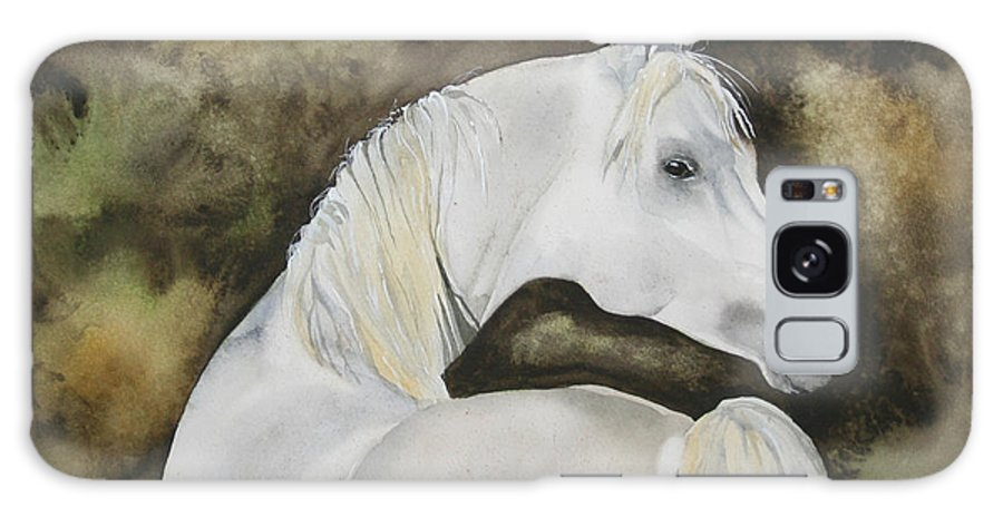 Horse Galaxy Case featuring the painting You Talking To Me by Jean Blackmer