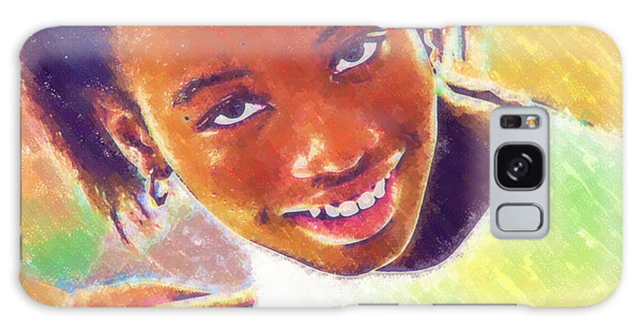 Beautiful Black Children Galaxy S8 Case featuring the photograph Young Black Female Teen 5 by Ginger Wakem