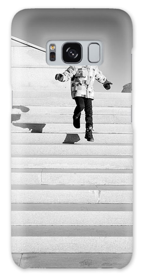 Boy Jumping Steps Galaxy S8 Case featuring the photograph Young Child Jumping Down Steps by John Williams