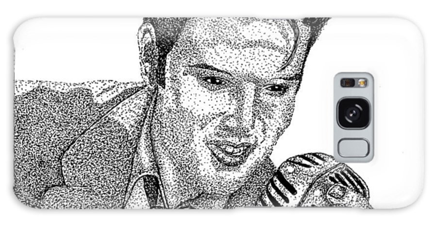 Iink Galaxy S8 Case featuring the drawing Young Elvis by Jennifer Campbell Brewer