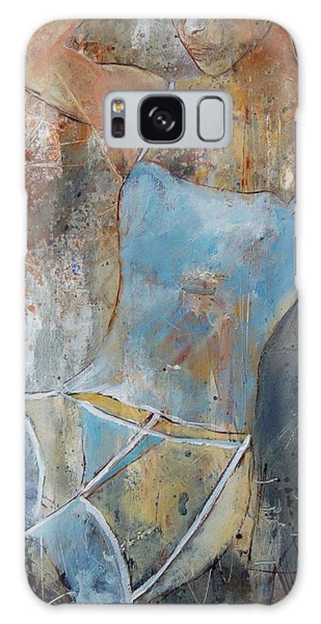 Nude Galaxy Case featuring the painting Young Girl 451108 by Pol Ledent