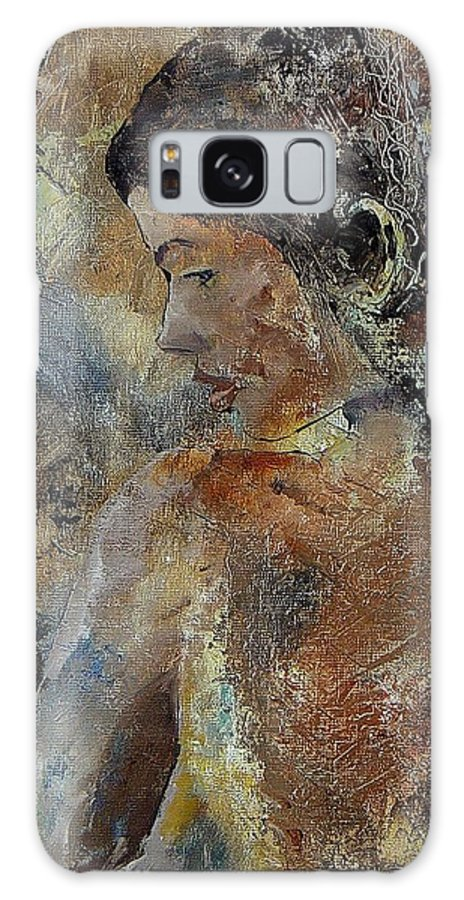 Girl Galaxy S8 Case featuring the painting Young Girl 45156987 by Pol Ledent