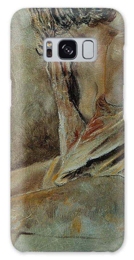 Gir Galaxy Case featuring the painting Young Girl 45905040 by Pol Ledent
