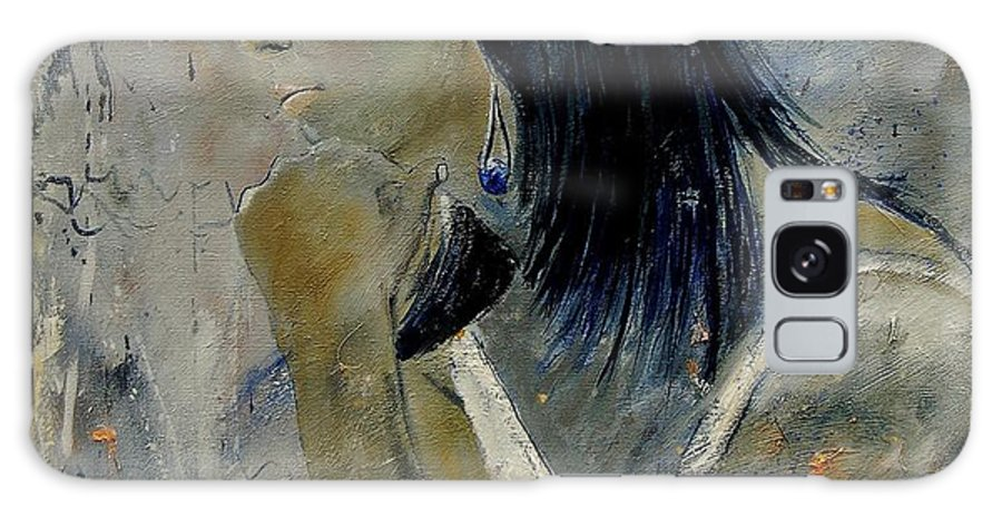 Girl Galaxy S8 Case featuring the painting Young Girl Eg569090 by Pol Ledent