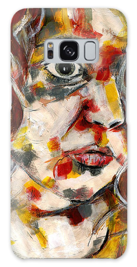 Figurative Painting Galaxy S8 Case featuring the painting Young Girl by KM Paintings