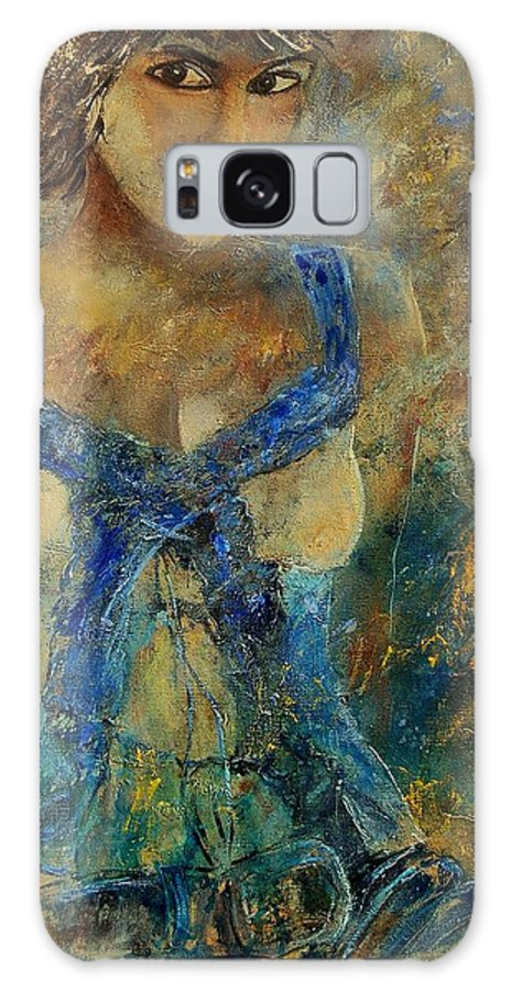 Girl Galaxy S8 Case featuring the painting Young Lady 5698 by Pol Ledent