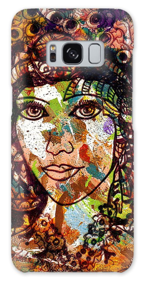 Female Galaxy S8 Case featuring the painting Young Maiden by Natalie Holland