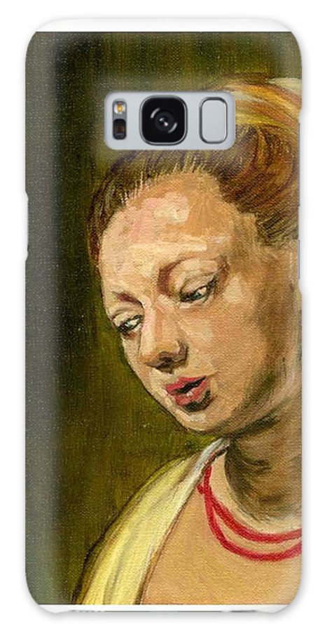 Rembrandt's Painting Galaxy S8 Case featuring the painting Young Woman by Asha Sudhaker Shenoy