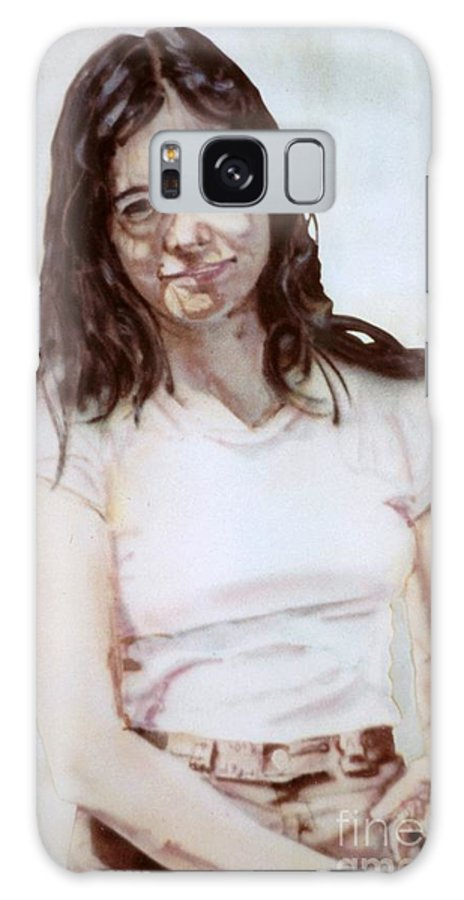Portrait Galaxy S8 Case featuring the painting Young Woman by Ron Bissett