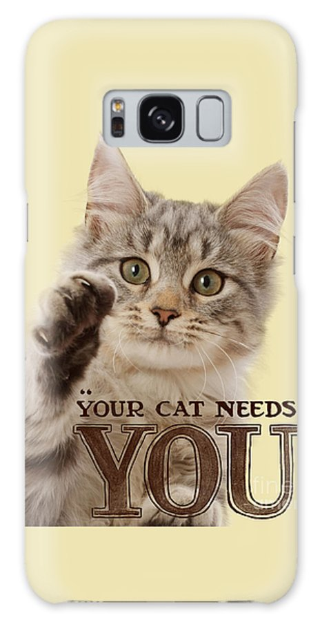 Your Cat Needs You Galaxy S8 Case featuring the photograph Your Cat Needs You by Warren Photographic