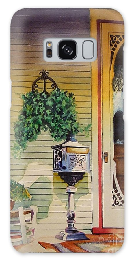 Antique Galaxy S8 Case featuring the painting You've Got Mail by Greg and Linda Halom