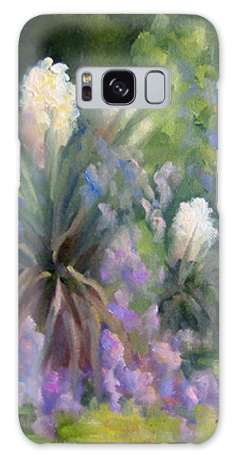 Yucca Galaxy Case featuring the painting Yucca And Wisteria by Bunny Oliver