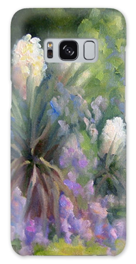 Yucca Galaxy S8 Case featuring the painting Yucca And Wisteria by Bunny Oliver