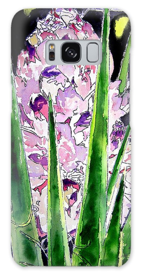 Flower Galaxy S8 Case featuring the painting Yucca Flower Plant Southwestern Art by Derek Mccrea