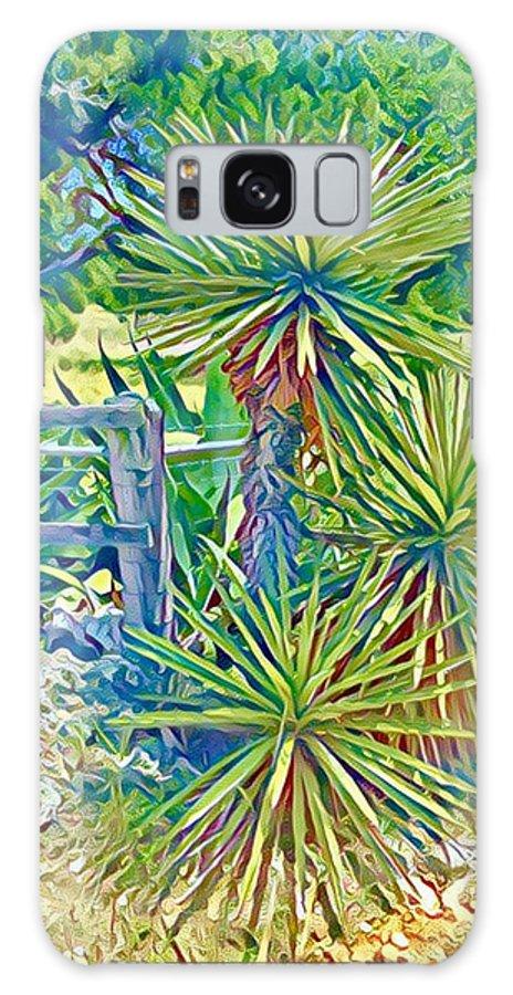Yucca Galaxy S8 Case featuring the digital art Yucca by Wendy Biro-Pollard