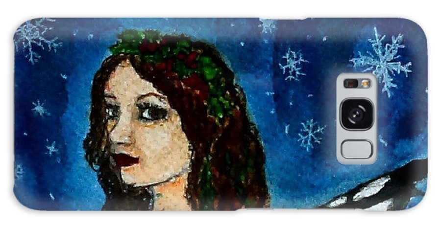 Winter Galaxy S8 Case featuring the painting Yuletide Fairy by Jennie Hallbrown