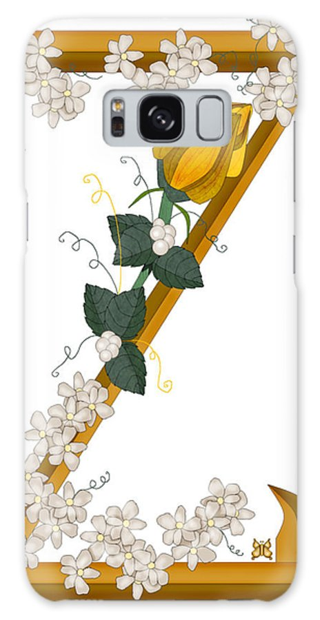 Z Galaxy S8 Case featuring the painting Z Is For Zest For Living by Anne Norskog