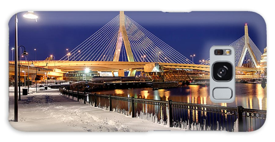 Galaxy S8 Case featuring the photograph Zakim Bridge In Winter by Denis Tangney Jr