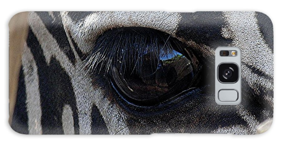 Zebra Galaxy S8 Case featuring the photograph Zebra Eye by Diane Greco-Lesser