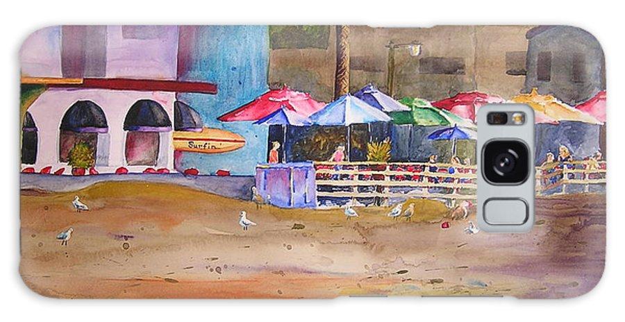 Umbrella Galaxy S8 Case featuring the painting Zelda's Umbrellas by Karen Stark