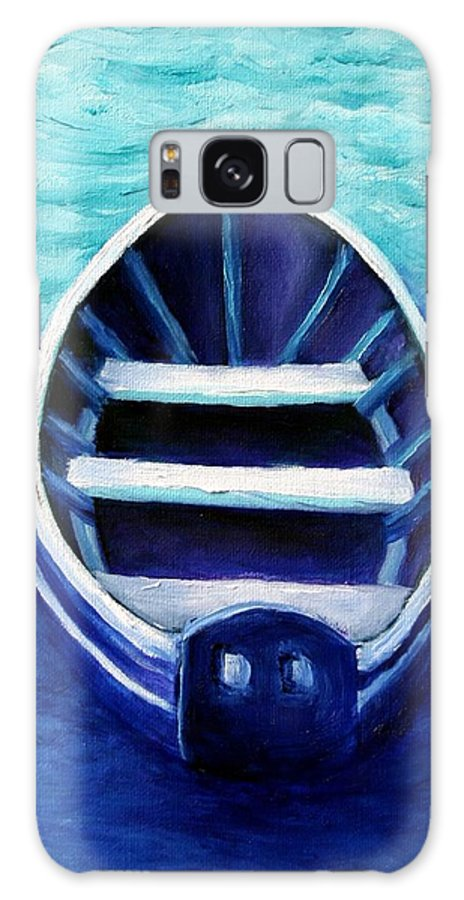 Boat Galaxy Case featuring the painting Zen Boat by Minaz Jantz