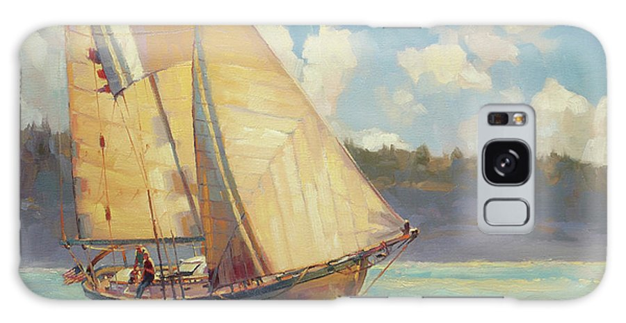Sailboat Galaxy Case featuring the painting Zephyr by Steve Henderson
