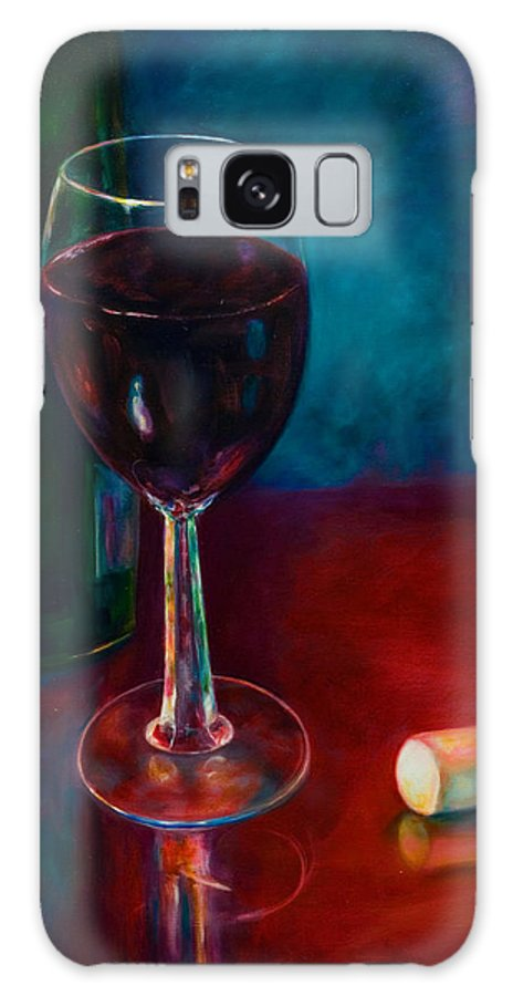 Wine Bottle Galaxy S8 Case featuring the painting Zinfandel by Shannon Grissom