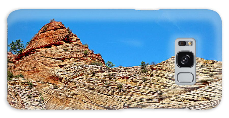 Zion Galaxy S8 Case featuring the photograph Zion Checkerboard Formations by Robert Meyers-Lussier