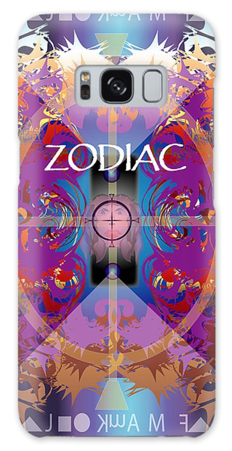 Abstaract Galaxy S8 Case featuring the digital art Zodiac 2 by George Pasini