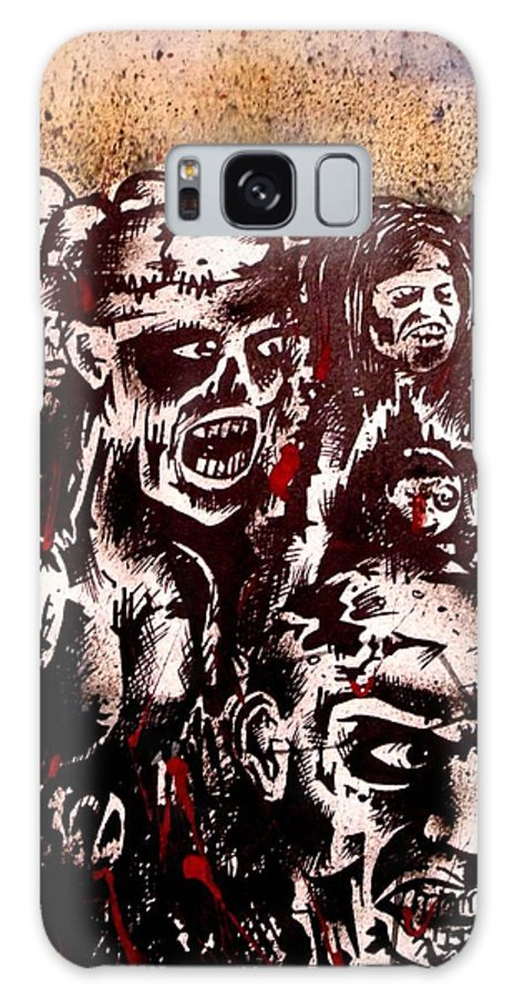 Fighting Galaxy S8 Case featuring the painting Zombie Army by Sam Hane