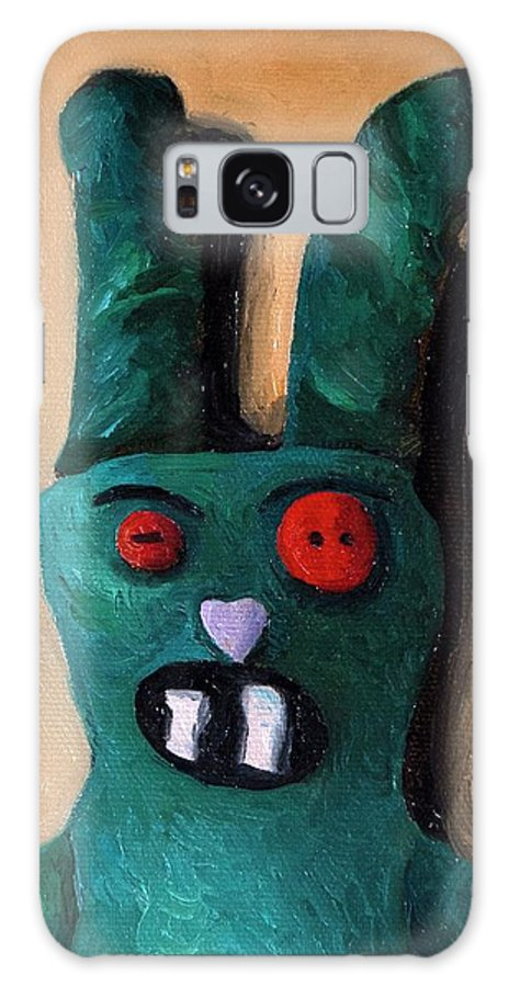 Zombie Galaxy S8 Case featuring the painting Zombie Bunny by Leah Saulnier The Painting Maniac