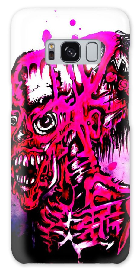 Zombie Galaxy S8 Case featuring the painting Zombie by Sam Hane