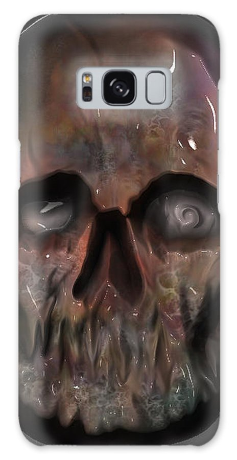 Zombie Galaxy S8 Case featuring the digital art Zombieskull by Will Le Beouf